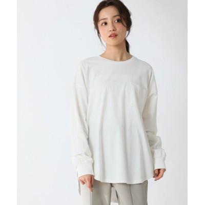 (Honeys/ハニーズ)ポケット付Tシャツ/レディース オフホワイト