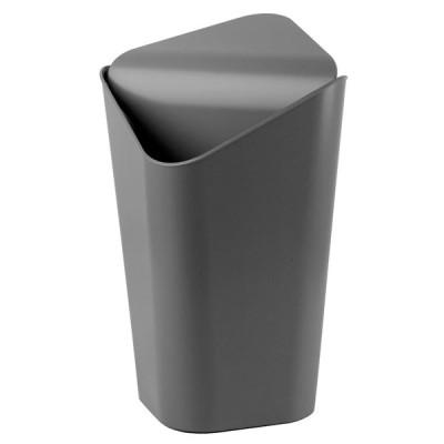 umbra スイングふた付角型ゴミ箱 ペール ごみ箱 ダストボックス チャコール 10L CORNER 2086900149