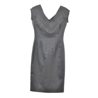 MAX&Co. シェイプウエスト ドレス ワンピース 38 グレー マックスアンドコー
