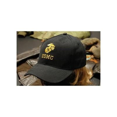帽子 メンズ ミリタリー キャップ ROTHCO ロスコ ブランド US MARINE オフィシャル USMC ロゴ / ブラック