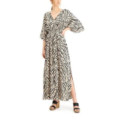アイエヌシーインターナショナルコンセプト ワンピース トップス レディース INC Smocked Zebra-Print Dress, Created for Macy's Sahara Zebra