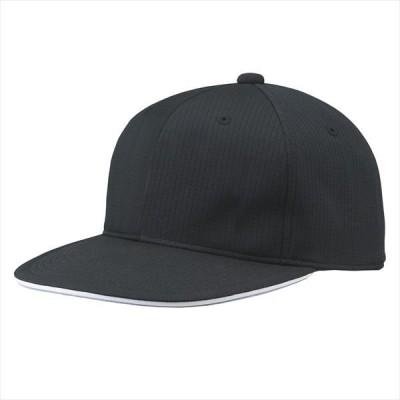 [DESCENTE]デサント野球 フラットバイザーキャップ (C5001)(BLK) ブラック[取寄商品]