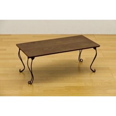 折れ脚テーブル 角型 アンティークレトロ風(新品) 猫脚テーブル 80×40cm THS-20グリーン(GN)猫脚 姫系
