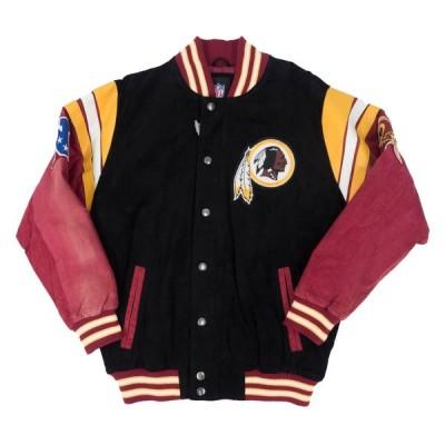 NFL スタジャン レッドスキンズ G-III ブラック メンズ 長袖 アウター ジャケット デッドストック
