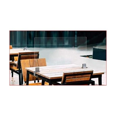 """Smart Spacer - Table Dividers for Square or Rectangle Tables - 24"""" to 34"""" Wide Tables - Single Panel with Clamps - Social Distancing Sneeze"""