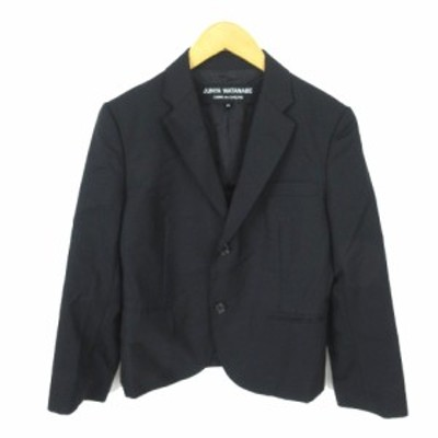 【中古】ジュンヤワタナベ JUNYA WATANABE テーラードジャケット 2B シングル 黒 ブラック XS レディース
