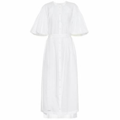 クロエ Chloe レディース ワンピース ミドル丈 ワンピース・ドレス Cotton midi dress White