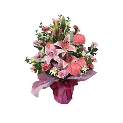 光触媒加工 高級アートフラワー 風水シリーズ 高さ65cm 鉢植 (ピンク)