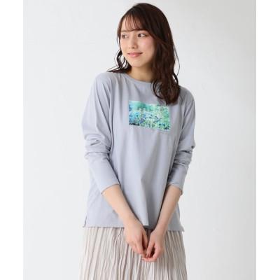 (Honeys/ハニーズ)フォトプリントTシャツ/レディース サックス