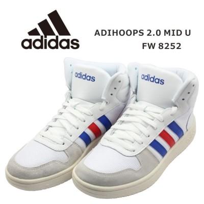 adidas アディダス メンズ スニーカー FW8252 アディフープス 2.0 ミッド U ホワイト
