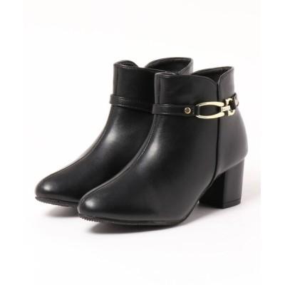 Mafmof / Realta(レアルタ) 防水2Wayビジュー金具 ショートブーツ WOMEN シューズ > ブーツ