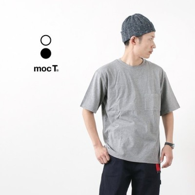 MOC T(モクティー) クルーネック ポケットTシャツ / ルーズフィット / メンズ / 無地 / 杢グレー / 日本製