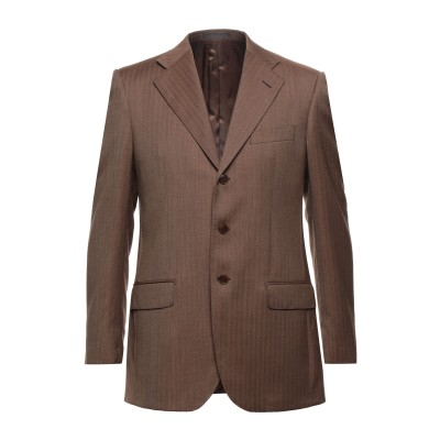 LUBIAM テーラードジャケット ココア 48 バージンウール 100% テーラードジャケット