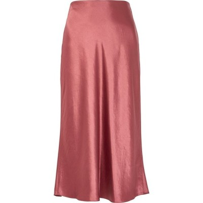 ヴィンス Vince レディース ひざ丈スカート スカート Rose Satin Midi Skirt Pink