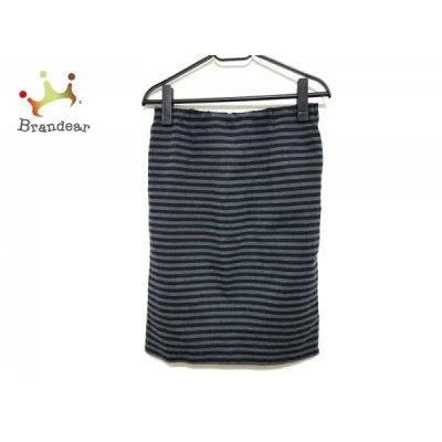 ドゥーズィエム DEUXIEME CLASSE スカート サイズ38 M レディース ダークグレー×黒 ボーダー  スペシャル特価 20210314