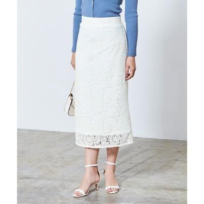 ユアーズ ur's レースタイトスカート (ホワイト)