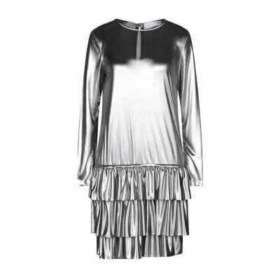 DOUUOD ミニワンピース&ドレス シルバー 40 ポリエステル 100% ミニワンピース&ドレス