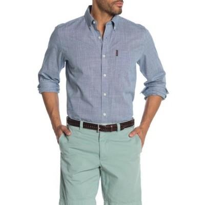 ベンシャーマン メンズ シャツ トップス Chambray Slub Classic Fit Shirt SKY
