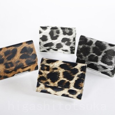 ミニ財布 ひょう柄 ミニウォレット コンパクト レディース 財布 三つ折り 手のひらサイズ 小さい シンプル 可愛い ホワイトデー プレゼント