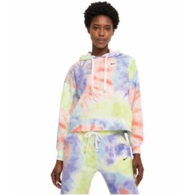 ナイキ レディース パーカー・スウェット アウター Dry Get Fit Fleece Tie-Dye Hoodie Purple Pulse/Bl