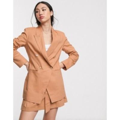 エイソス レディース ジャケット・ブルゾン アウター ASOS DESIGN ultimate linen suit blazer Plaster