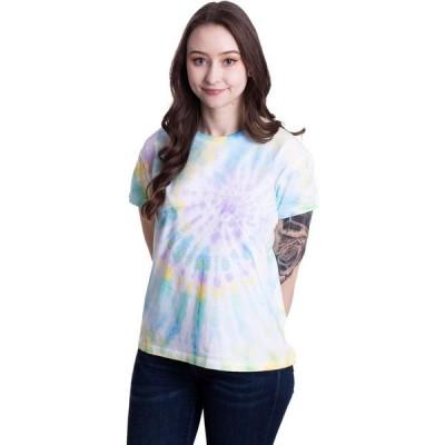 アーバンクラシックス Urban Classics レディース Tシャツ トップス - Tie Dye Boyfriend Pastel - T-Shirt multicolored