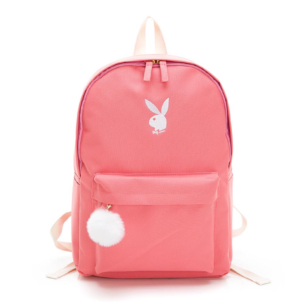 PLAYBOY - BUNNY兔系列後背包-粉色(592-4401-12-8)