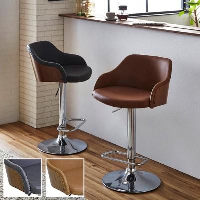カウンターチェア ハイスツール バーチェア おしゃれ 木製 デザイナーズ カフェ 北欧 昇降式 送料無料