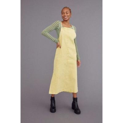 アーバンアウトフィッターズ Urban Outfitters レディース ワンピース エプロンドレス ワンピース・ドレス uo ryan midi apron dress Yellow