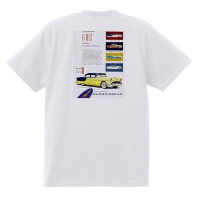 アドバタイジング オールズモビル 646 白 Tシャツ 黒地へ変更可  1954 ゴールデン ロケット 88 98 スーパー ホリデー スターファイア カトラス