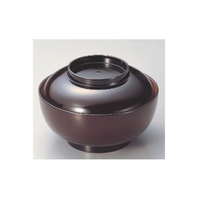 丼碗 5.5寸深型椀溜内朱つば黒 漆器 高さ75 直径:163/業務用/新品