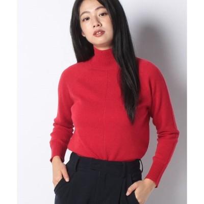 【ラピーヌ ブルー】【洗える】カシミヤ ハイネックセーター