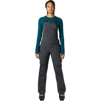 【倍倍ストア】(取寄)マウンテンハードウェア ファイアフォール ビブ パンツ - レディース Mountain Hardwear Firefall Bib Pant - Women's Dark St 倍々ストア
