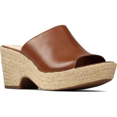 クラークス CLARKS レディース サンダル・ミュール シューズ・靴 Maritsa Platform Mule Tan Leather