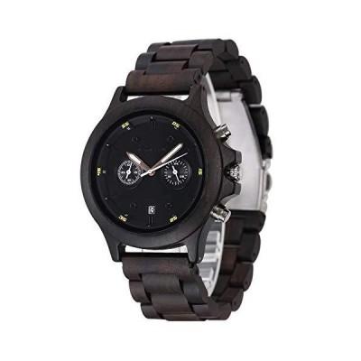 腕時計(男性)shifenmei S5583 木製腕時計 ヴィンテージハンドメイド木製腕時計 メンズクロノグラフウォッチ ユニセックスカジュアル腕時計