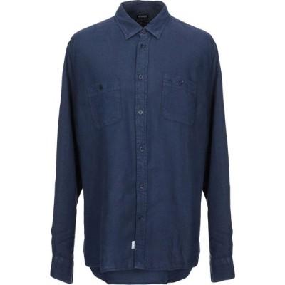 ブラウアー BLAUER メンズ シャツ トップス Linen Shirt Dark blue