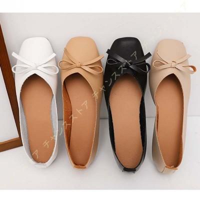 パンプス 夏 レディース スクエアトゥ サンダル 大きいサイズ 可愛い  痛くない  婦人靴 カジュアル キレイ 美脚効果 フラットシューズ 滑りにくい  疲れない
