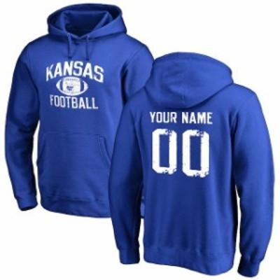 Fanatics Branded ファナティクス ブランド スポーツ用品  Kansas Jayhawks Royal Blue Personalized Distressed Footb