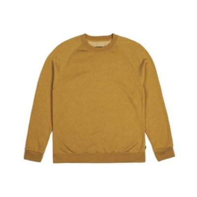 Brixton Dent Crew Fleece Mustard XL 送料無料