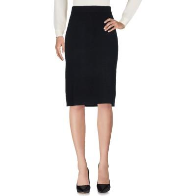 サンシックスティエイト SUN 68 ひざ丈スカート ブラック M ウール 50% / コットン 50% ひざ丈スカート
