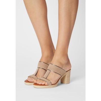 レディース 靴 シューズ Heeled mules - sand/hardy