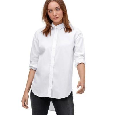 レディース 衣類 トップス ellos Women's Plus Size Relaxed Button Front Tunic Shirt ブラウス&シャツ