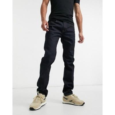 トミー ヒルフィガー メンズ デニムパンツ ボトムス Tommy Hilfiger relaxed fit jeans in dark rinse Blue
