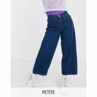 ノイズィーメイ Noisy May Petite レディース ジーンズ・デニム ワイドパンツ ボトムス・パンツ wide leg jeans in dark blue ダークブル