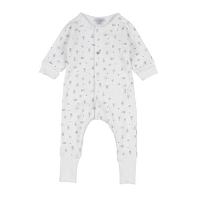 ABSORBA 乳幼児用ロンパース ホワイト 6 コットン 100% 乳幼児用ロンパース