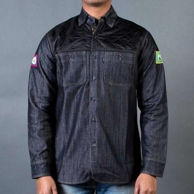 ステイプル Staple メンズ シャツ オーバーシャツ トップス Patch Denim Overshirt black