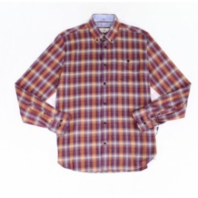 Plaid  ファッション アウター Gable & Grant NEW Red Mens Size Small S Plaid Print Button Down Shirt