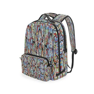 Bright Foreign Style Rose Window Trekking Daypack Two In One Detachable Pic
