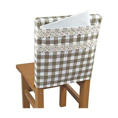 IKENOKOI椅子 背もたれカバー 椅子ポケット 本 雑誌 小物収納 学校 幼稚園 家庭用(40*40cm カーキ)