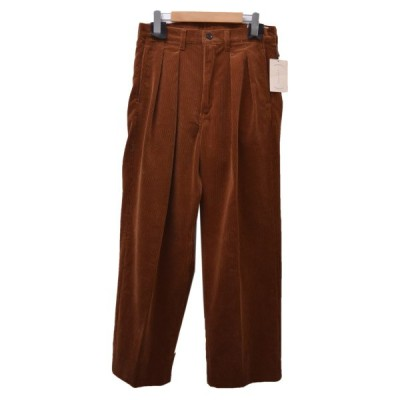CANTATE 2020AW Corduroy Two tuck Trousers  コーデュロイパンツ ブラウン サイズ:30 (恵比寿店) 210